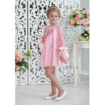 Платье-трапеция нарядное розового цвета ЭВИ