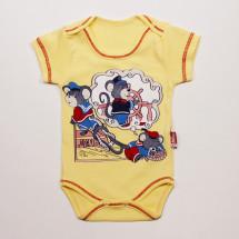 Боди для малышей желтого цвета с мышками