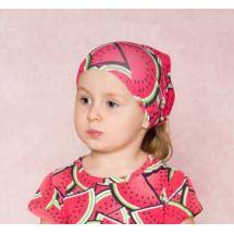 """Косынка для девочек красного цвета """"Арбузы"""""""