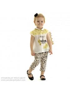 Комплект летний леопардово-желтой расцветки bebus (бриджи и блуза)