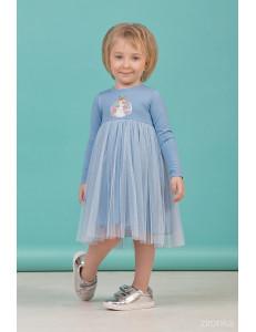 """Платье для девочек с длинным рукавом голубого цвета """"Spring"""""""