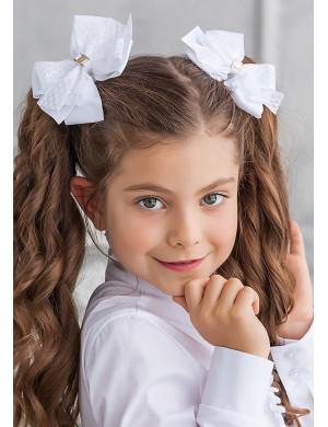 """Бант для волос на мягкой резинке """"Инесса"""" (2шт)"""