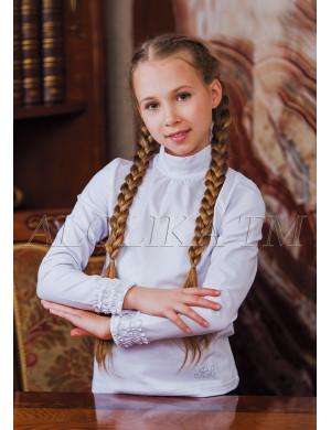 "Джемпер белого цвета с оборками на рукавах ""Ксюша"""