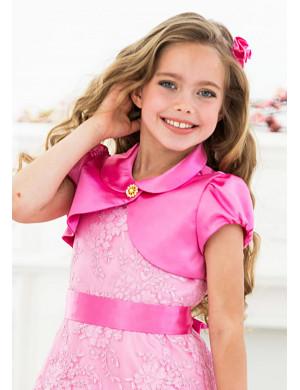 Болеро розового цвета с коротким рукавом Клерис